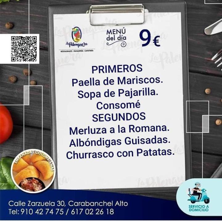 """""""La Palanquera"""" menu Viernes 26/02/21"""