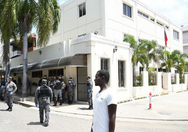 Sede de la embajada de Haití en Santo Domingo.