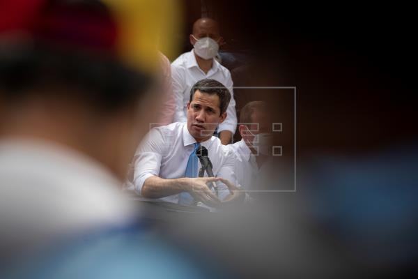 En la imagen, el líder opositor venezolano, Juan Guaidó