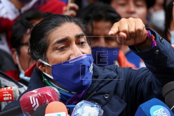En la imagen, el indígena ambientalista y candidato presidencial ecuatoriano Yaku Pérez.